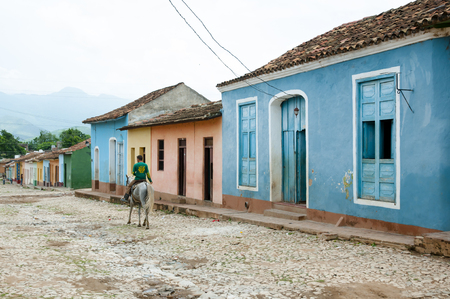 Photo for Colorful Cobble Street - Trinidad - Cuba - Royalty Free Image
