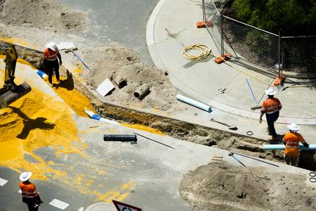 Photo pour Street Construction in City - image libre de droit