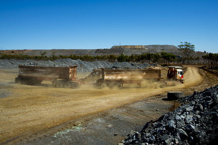 Mine Ore Transport on Road Train
