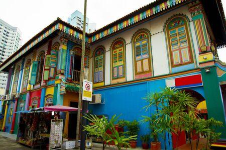 Photo pour Colorful Building in Little India - Singapore - image libre de droit