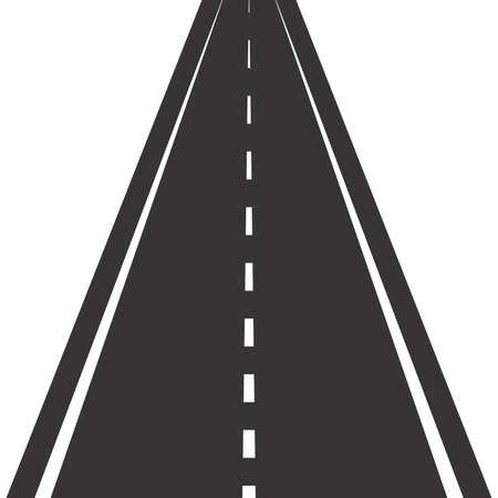 Photo pour Road with markings. Straight asphalt road in perspective - image libre de droit