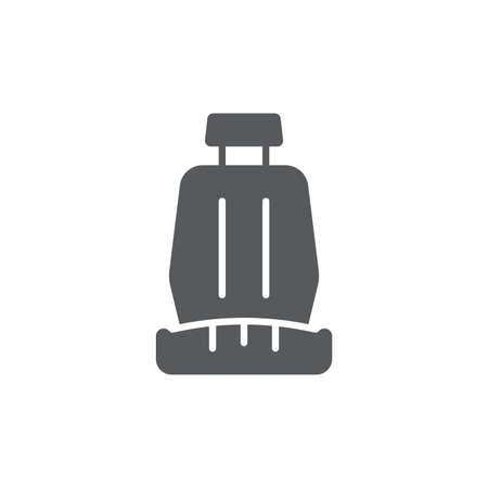 Illustration pour Car seat vector icon symbol isolated on white background - image libre de droit