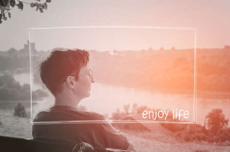 Enjoy life. Travel, Relax, Chill, Vacation, Holiday concept