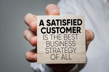 Photo pour A Satisfied Customer Is The Best Business Strategy of All - image libre de droit