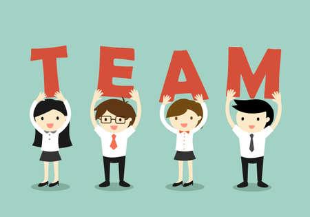 Illustration for Business concept, Teamwork concept. illustration. - Royalty Free Image