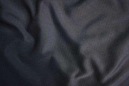 Photo pour Background texture black cloth. Abstract dark wavy soft. Fabric is wrinkled. Fashion luxury style. - image libre de droit