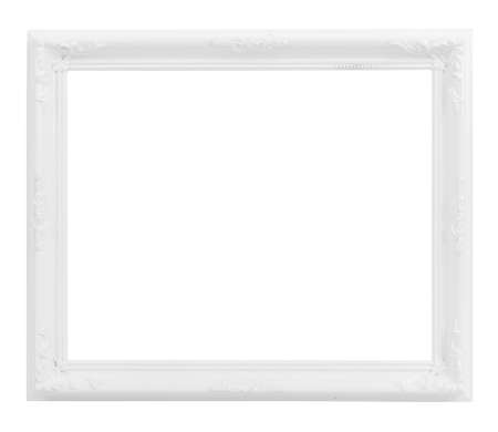 Photo pour Vintage White Wood Frame ISOLATED on White Background. - image libre de droit