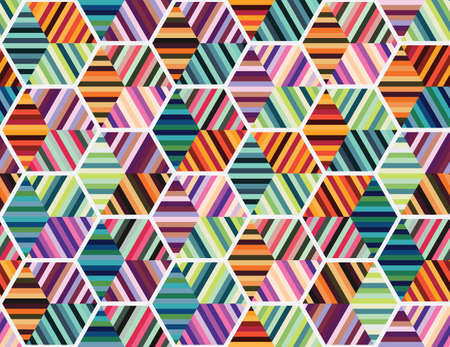 Illustration for Seamless geometrical pattern with colourful shapes - Royalty Free Image