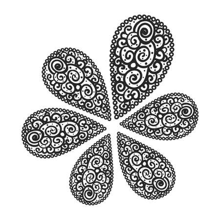Illustration pour flourish background black and white colored - image libre de droit