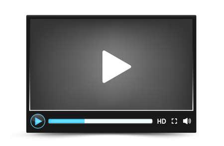 Dark skin vector video player interface