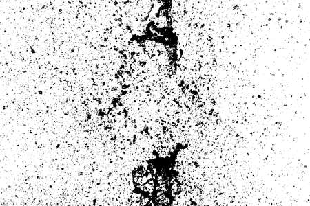 Speckle black vector texture overlay. Grit or grain and blots isolated on white background. Flecked backdrop.