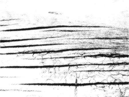 Old barn wood plank halftone texture overlay. Vintage natural vector background with cracks