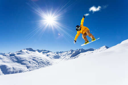 Photo for downhill with snowboards in fresh snow - Royalty Free Image