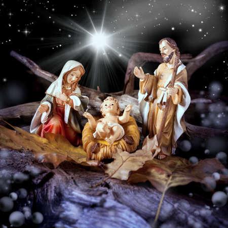 Foto per Nativity scene - still life close up - Immagine Royalty Free