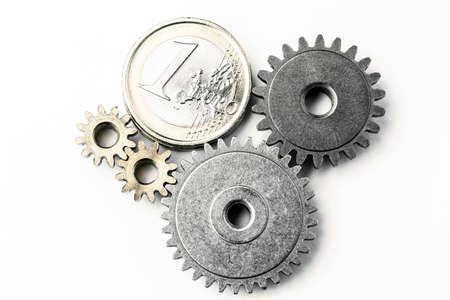 Photo pour Euro Gear - conceptual close up - image libre de droit