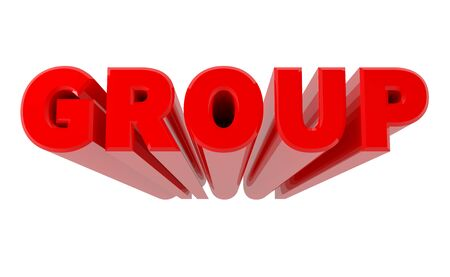 3D GROUP word on white background 3d rendering