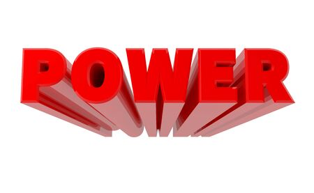 Photo for 3D POWER word on white background 3d rendering - Royalty Free Image