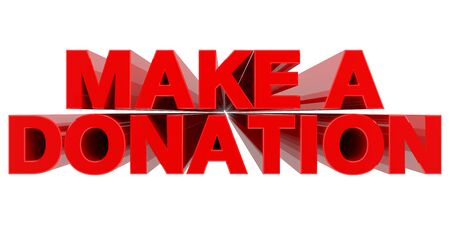 Photo for MAKE A DONATION word on white background 3d rendering - Royalty Free Image