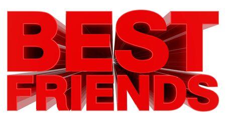 Photo pour BEST FRIENDS word on white background 3d rendering - image libre de droit