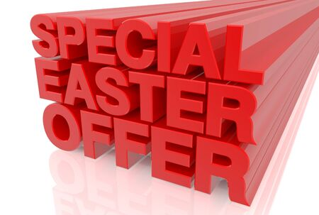 Photo pour SPECIAL EASTER OFFER word on white background 3d rendering - image libre de droit