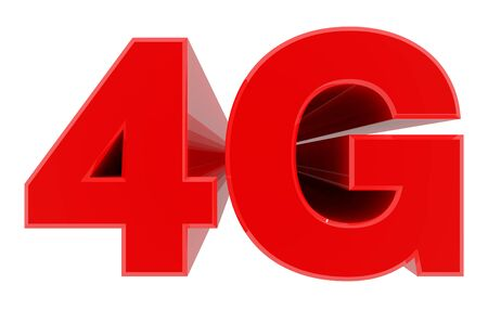 Photo for 4G word on white background 3d rendering - Royalty Free Image