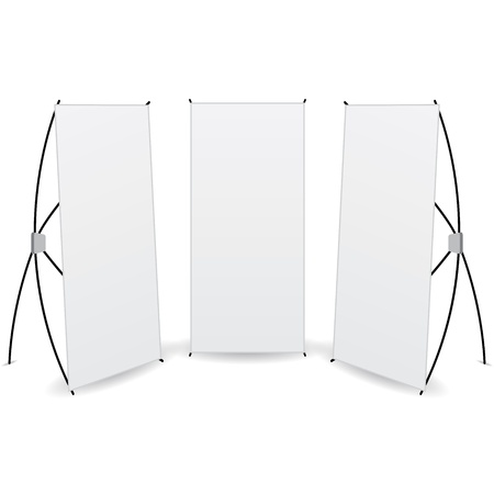 pack banner x-stands display isolated