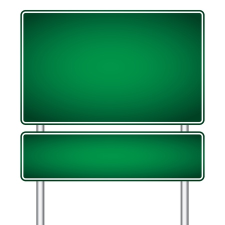 pole sign road blank isolated