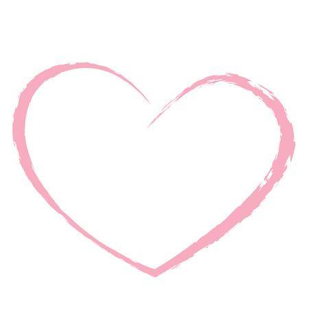 Illustration pour pink heart drawing love valentine - image libre de droit