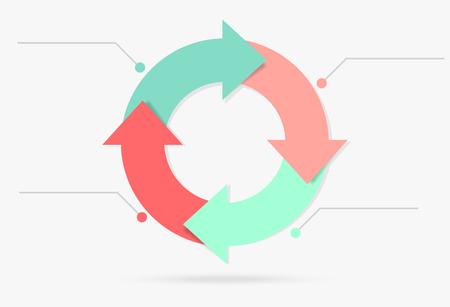 Ilustración de pastel colorful life cycle infographic content marketing - Imagen libre de derechos