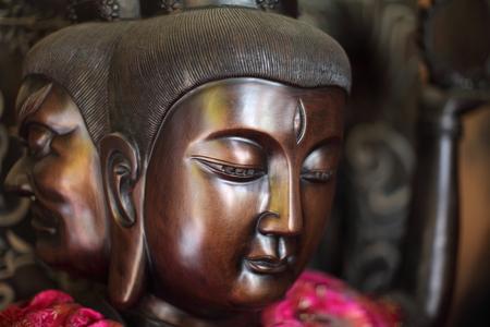 Ming Mu head wooden sculpture