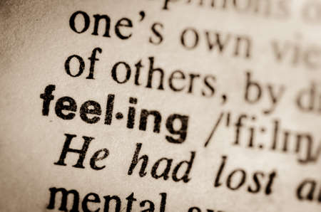 macro of word feeling definition in dictionary