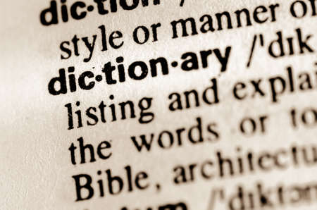 macro of word dictionary definition in dictionary