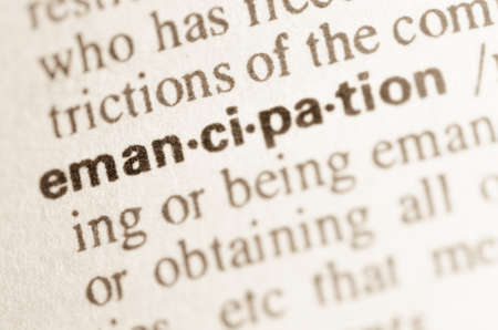 Definition of word emancipation in dictionary