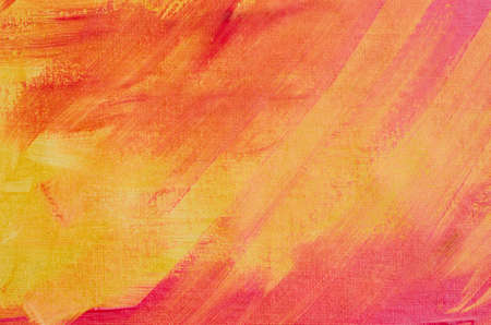 orange painted artistic canvas background texture