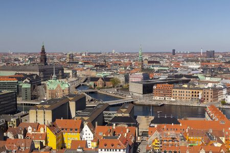 Photo for Copenhagen city view from the top - Royalty Free Image