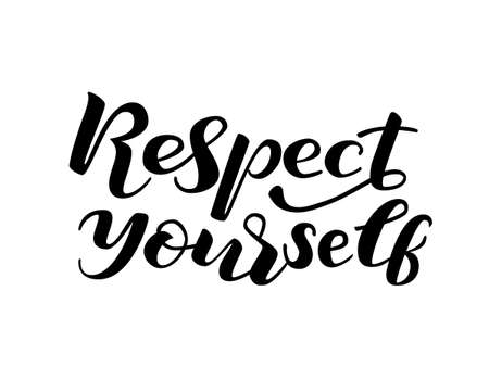 Illustration pour Respect yourself lettering. Vector illustration - image libre de droit