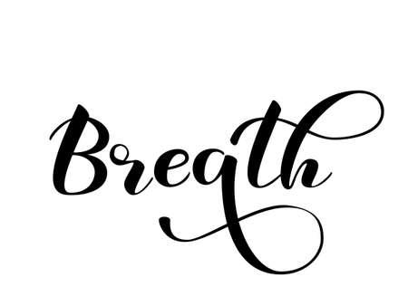 Illustration pour Lettering Breath. Vector illustration for banner, poster or card - image libre de droit