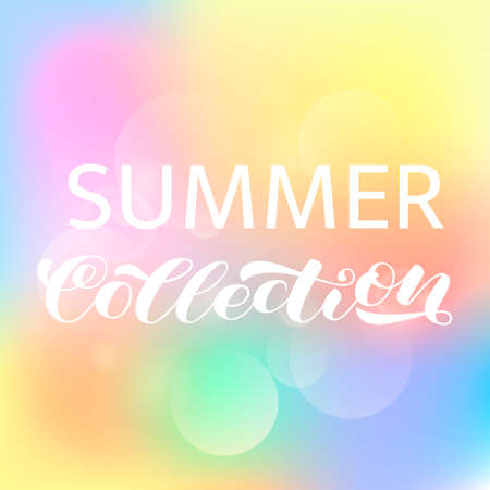 Illustration pour Summer collection brush  lettering. Vector illustration for poster or card - image libre de droit