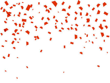 Illustration for Vector stock illustration. Falling red confetti isolated on a white background for card or poster - Royalty Free Image