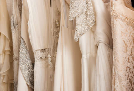 Wedding dresses in detail