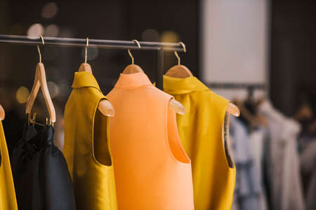 Photo pour Fashionable clothes in a boutique store in London. - image libre de droit