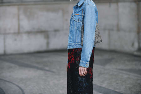 Paris, France - February 28, 2019: Street style outfit -  Linda Tol before a fashion show during Paris Fashion Week - PFWFW19