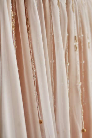 Pink fabric texture for abstract background, design and wallpaper, soft and blur style,