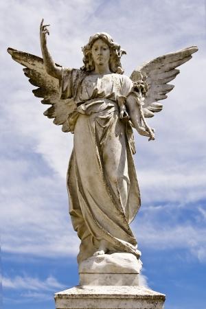 Angel statue on a pedestal