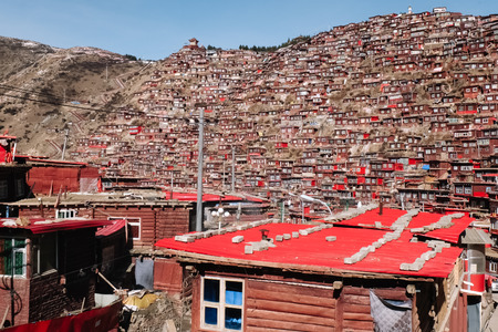 Larung Gar - the largest Bhuddist academy in the world, located in Sertar county, China