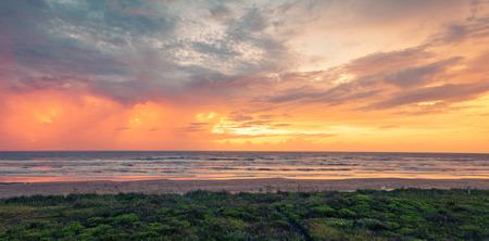 Panoramic Sunrise at beach in Texas