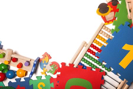 Foto de border of very many kids toys - Imagen libre de derechos