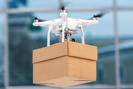 Photo for Drone is a great tool for delivering packages. - Royalty Free Image