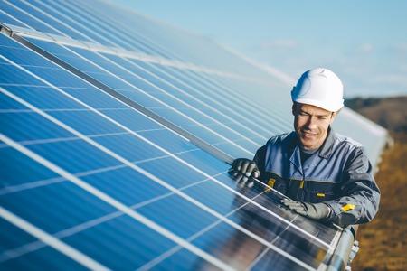 Photo for solar power station - Royalty Free Image