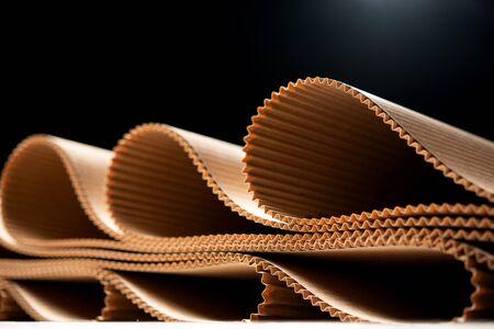 Photo pour paper factory process texture carton industry brown - image libre de droit